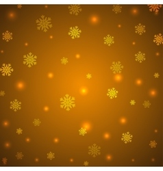 Christmas yellow background with snowflakes and vector image vector image