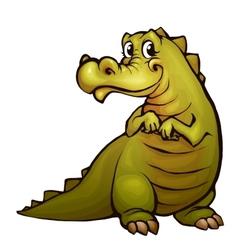 Crocodile in cartoon style vector