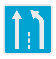 end of the strip icon flat style vector image vector image