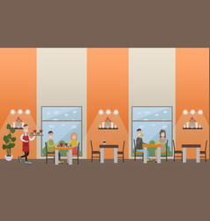 Fast food cafe concept flat vector