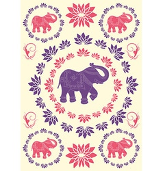 Festive typical indian elephant background vector