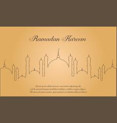 Greeting card ramadan kareem style vector