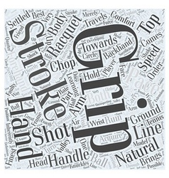 Grip footwork and strokes in tennis word cloud vector