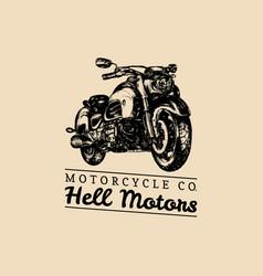 Hell motors advertising poster hand drawn vector