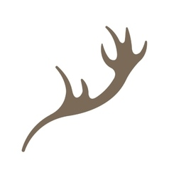 Horns reindeer isolated icon vector