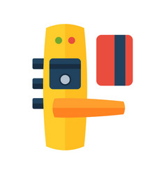 house door lock access equipment icon vector image