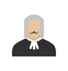 Judge flat icon vector image vector image