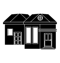pictograh family house exterior concept vector image
