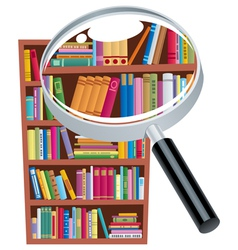 Research bookshelf vector