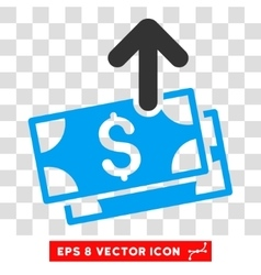 Send banknotes eps icon vector