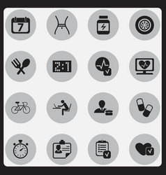 set of 16 editable complicated icons includes vector image vector image