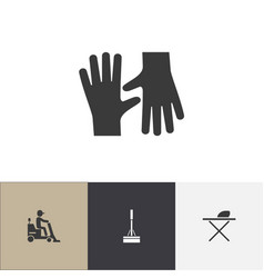 Set of 4 editable cleanup icons includes symbols vector