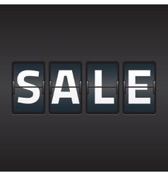 Split flap sale vector image