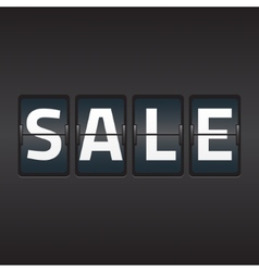 Split flap sale vector