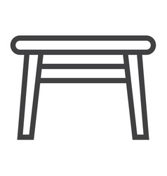 Table line icon furniture and interior element vector