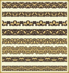 Vintage border set for design 14 vector image