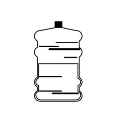 Water bottle big plastic dispenser outline vector