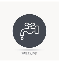 Water supply icon Crane with drop sign vector image vector image