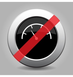 gray chrome button - no dial symbol vector image