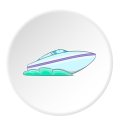 Speed boat icon cartoon style vector