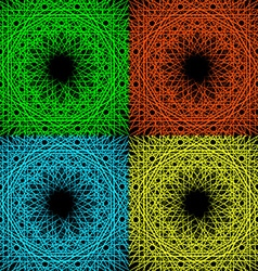 A set of four geometric patterns vector