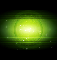 Bright green technology abstract background vector
