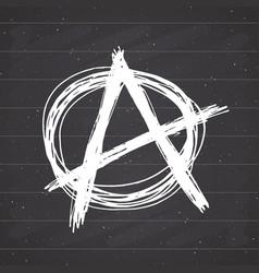 Anarchy sign hand drawn sketch textured grunge vector