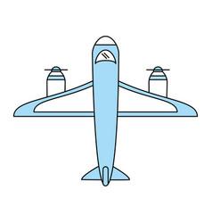 cargo airplane icon image vector image