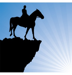 man on the horse vector image
