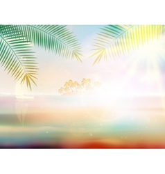 Tropical beach design template vector image