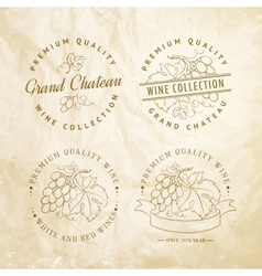 Design of label for wine vector