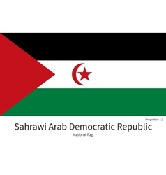 National flag of Sahrawi Arab Democratic Republic vector image