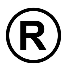 Registered trademark icon vector