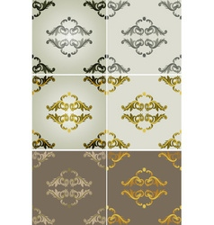 Royal filigree patterned backdrop set vector
