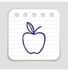 Doodle apple icon vector