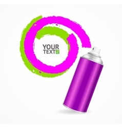 Color spray can write speech bubble vector