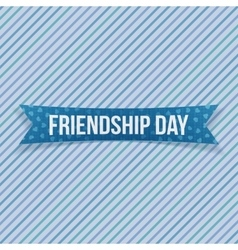 Friendship day greeting textile banner vector