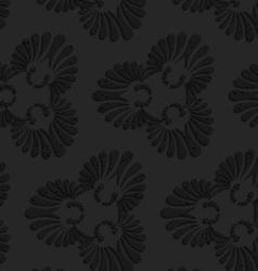 Black textured plastic flourish ornament vector