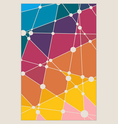 brochures with polygonal colorful background vector image vector image