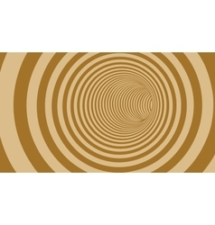 Brown circle striped abstract tunnel vector