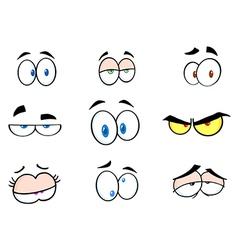 Cartoon Funny Eyes Collection vector image vector image