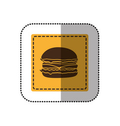 Color emblem humburger icon vector