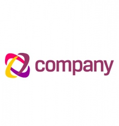 company abstract logo vector image