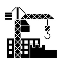 construction buildings icon vector image