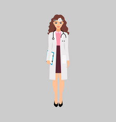 Female character of endocrinologist vector