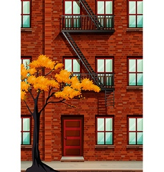 Fire escape of apartment building vector