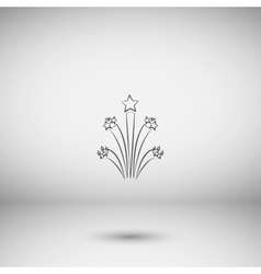 Flat firework icon vector image