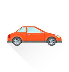 flat red coupe car body style icon vector image vector image
