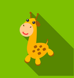 giraffe flate icon for web and vector image