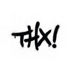 graffiti thx chat abbreviation in black over white vector image vector image